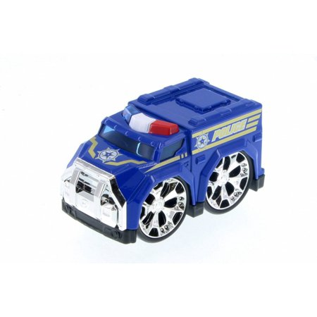 Super Engine Rescue Racer Police Car, Blue 78403D - Motor Max Showcasts 78401/3D - Diecast Model Toy Car (Brand New but NO BOX)