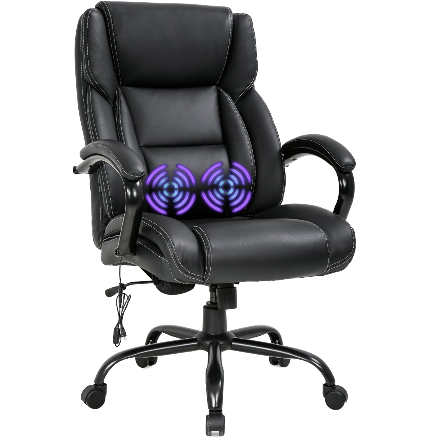 Big and Tall Office Chair 500lb Wide Seat Desk Chair with ...
