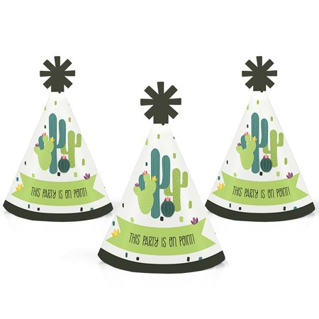 Prickly Cactus Party - Mini Cone Fiesta Party Hats - Small Little Party Hats - Set of 10](Fiesta Hat)