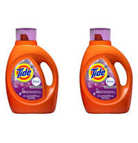 (2 pack) Tide plus Febreze Freshness Spring And Renewal Scent HE Turbo Clean Liquid Laundry Detergent, 92 oz, 59 loads