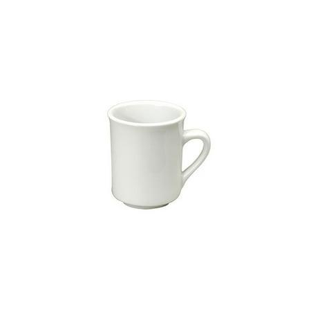 Buffalo F8000000560 Bright White Ware 10 Oz. Cafe Mug - 36 / (Dallas Ware Cafe)