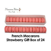 French Macarons Gift Box of 24 - Strawberry