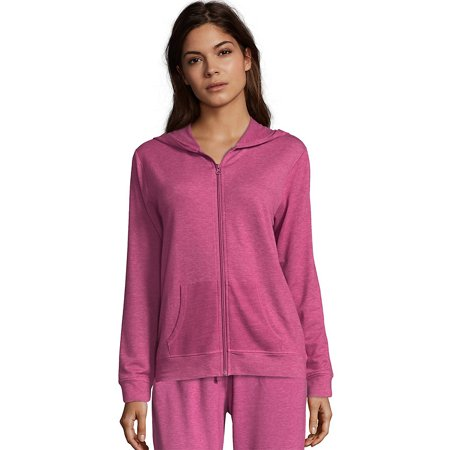 a16a1f66fc Hanes Women s Heathered French Terry Zip Hoodie - Walmart.com