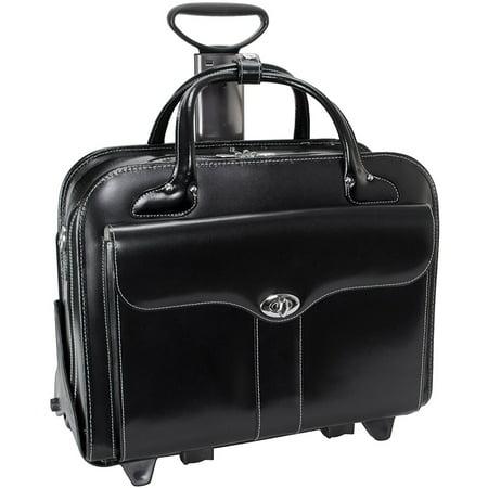 Mcklein Women's Berkeley 15.4'' Wheeled Laptop Briefcase Black (Best Os For Laptop)