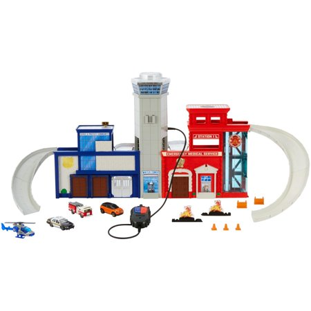 Matchbox Real Adventure Rescue Headquarters Playset