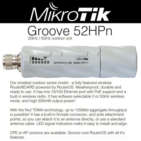 Mikrotik RouterBOARD Groove 52HPn, RBGroove-52HPn Outdoor CPE/AP OSL3