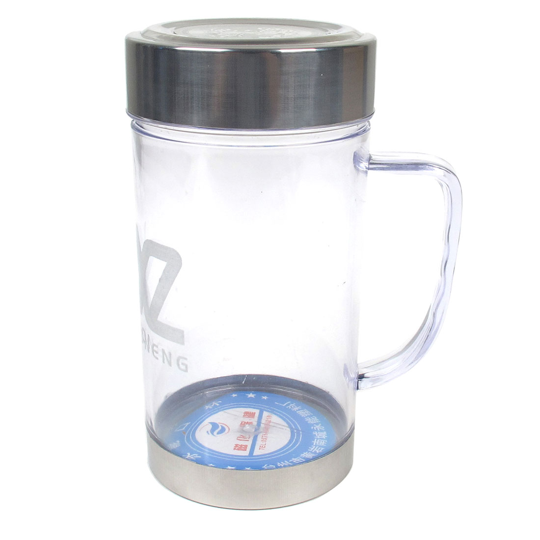 Unique Bargains 350ml Capacity Cylindric Shape Plastic Clear Water Drinking Bottle Holder