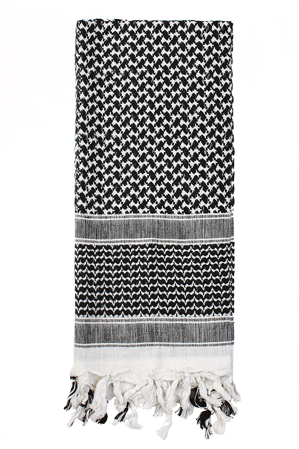 Rothco Lightweight Shemagh Tactical Desert Scarves - Black / White