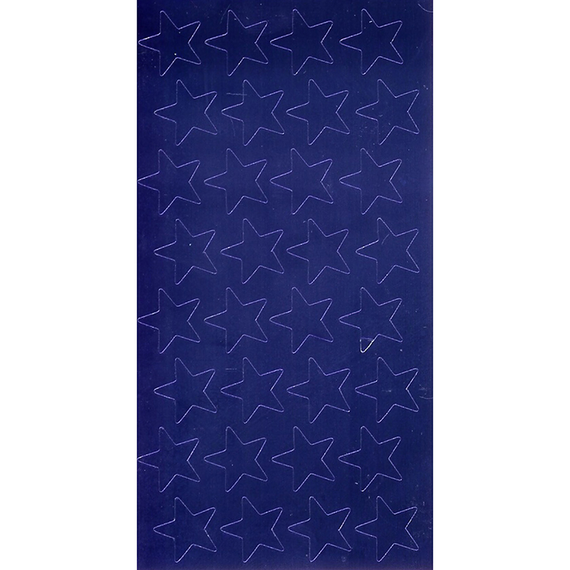 STICKERS FOIL STARS 3/4 INCH BLUE