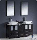 Fresca Torino 60'' Double Modern Bathroom Vanity Set with Mirror