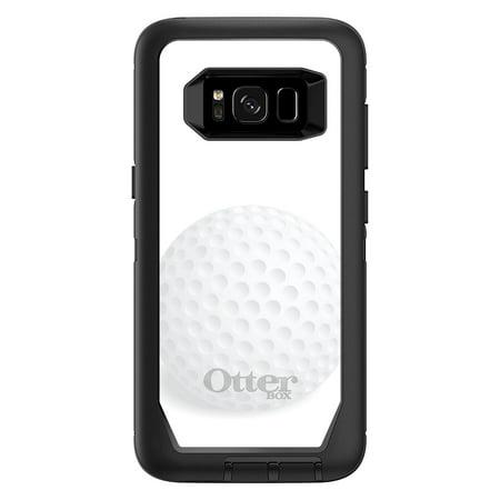 Distinctink  Custom Black Otterbox Defender Series Case For Samsung Galaxy S8  5 8   Screen    White Golf Ball