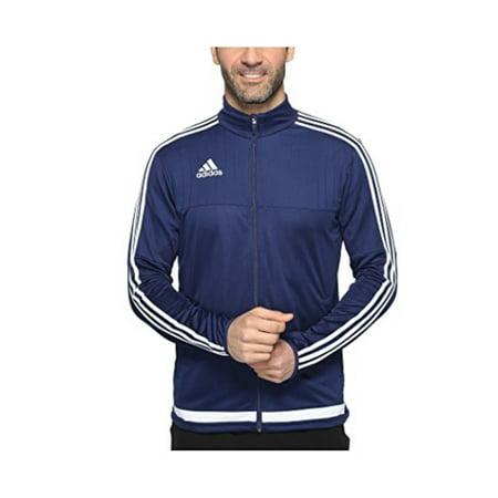 adidas Mens Soccer Tiro 15 Training Jacket, Dark BlueWhiteDark Blue, Large