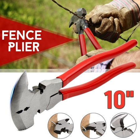 10 inch Fencing Pliers Plier With Soft Grip For Wire Cutter Fencing Hammer Tool - image 4 of 9