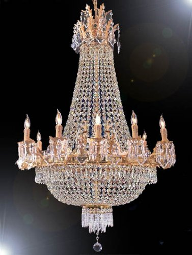 """French Empre Crystal Chandelier H25"""" X W32"""" 12 LIGHTS by"""