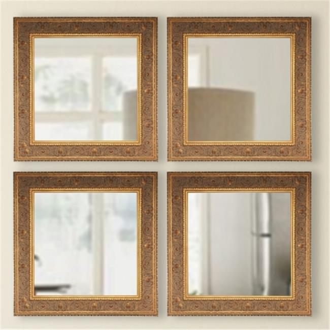 Rayne Mirrors S071S American Made Audrianna Marie Opulent Gold Square Mirror, 19.5 x 19.5 x 1.5 by Rayne Mirrors