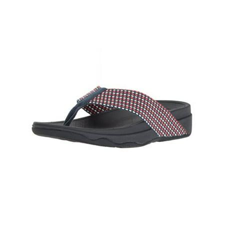 deea9e0d36d FitFlop - FitFlop Women s Surfa Textile Toe-Thong Sandals H84 - Walmart.com