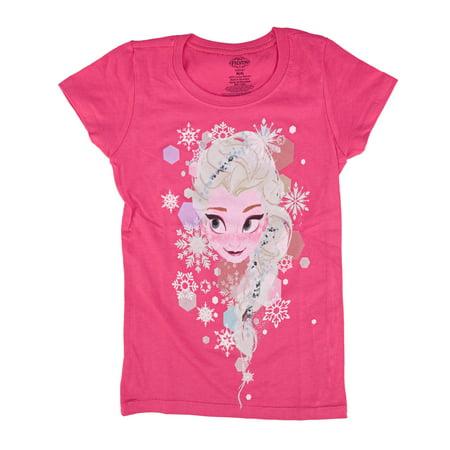 Disney Frozen Elsa Face Toddlers Pink T-Shirt | 5/6 - Elsa T Shirt