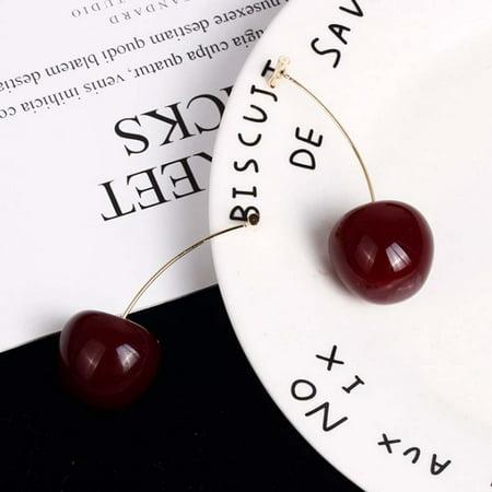Aofa Women Sweet Cherry Shape Dangle Jacket Earrings Party Jewelry Birthday Gift - image 3 of 7
