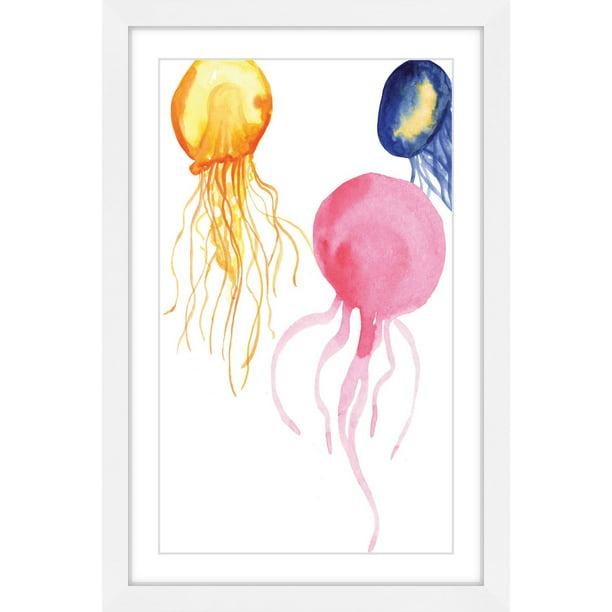 Jellyfish Framed Painting Print Walmart Com Walmart Com
