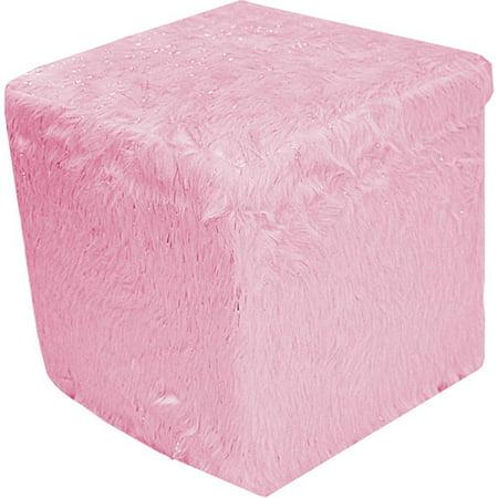 Fur Storage Ottoman, Icy Pink - Walmart.com