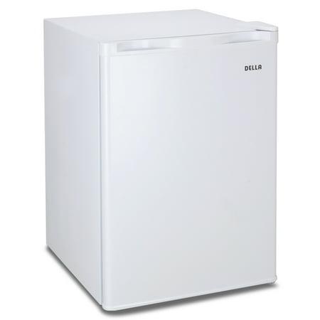 Della Portable Mini Fridge Reversible Door Upright Mini Refrigerator Freezer 2.6 Cubic Feet Compact White