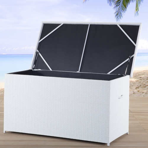 Beliani Wicker Deck Box by Beliani
