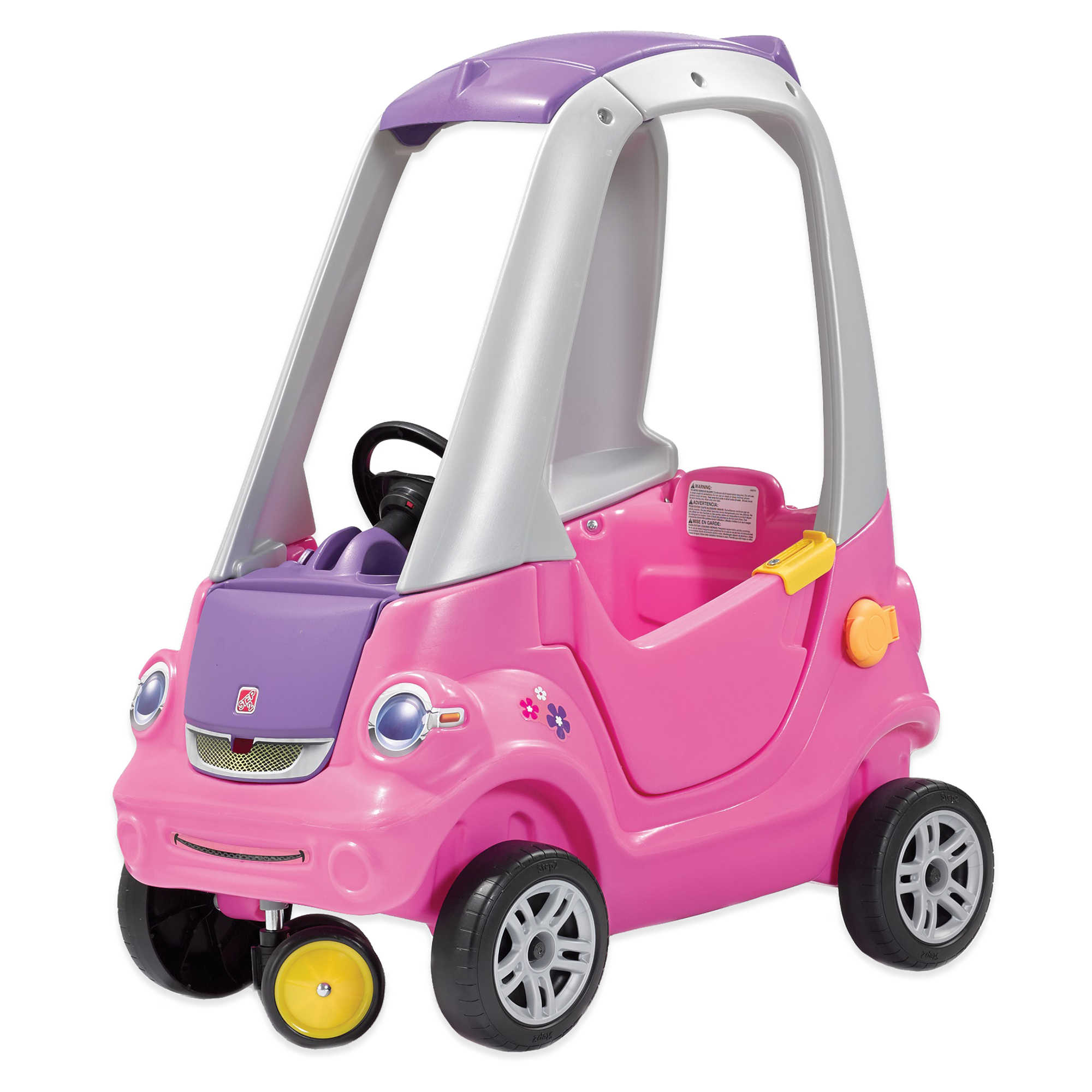 Step2 Easy Turn Coupe with cup holders for both parents and child, Pink