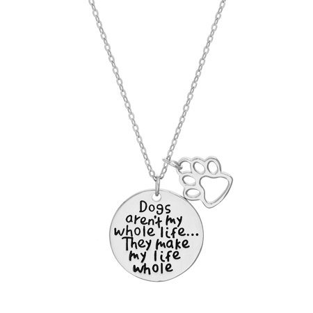 Inspirational Circle Charm Necklace For Dog Lovers