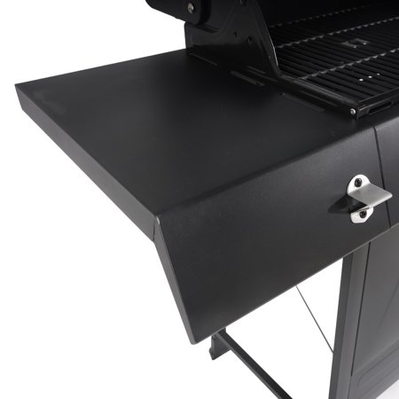 RevoAce 4-Burner LP Gas Grill with Side Burner, Stainless Steel & Black, GBC1748WS