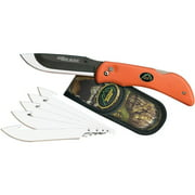"OUTDOOR EDGE RAZOR-LITE KNIFE 3.5"" 420J STAINLESS JAPANESE DROP POINT RUBBERIZED KRATON"