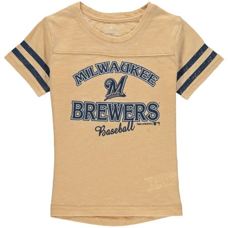 MLB Milwaukee BREWERS TEE Short Sleeve Girls Fashion 60% Cotton 40% Polyester Alternate Team Colors 7 - 16 - Halloween Milwaukee