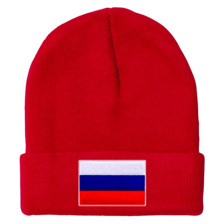 Russia MyCountry Solid Knit Hat (Red) - IceJerseys - image 1 de 1