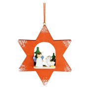 Christian Ulbricht Angel in Red Star Ornament