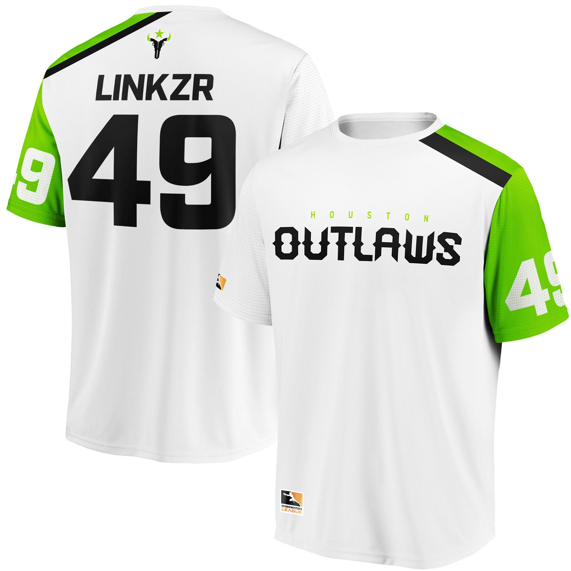 LiNkzr Houston Outlaws Overwatch League Replica Away Jersey - White