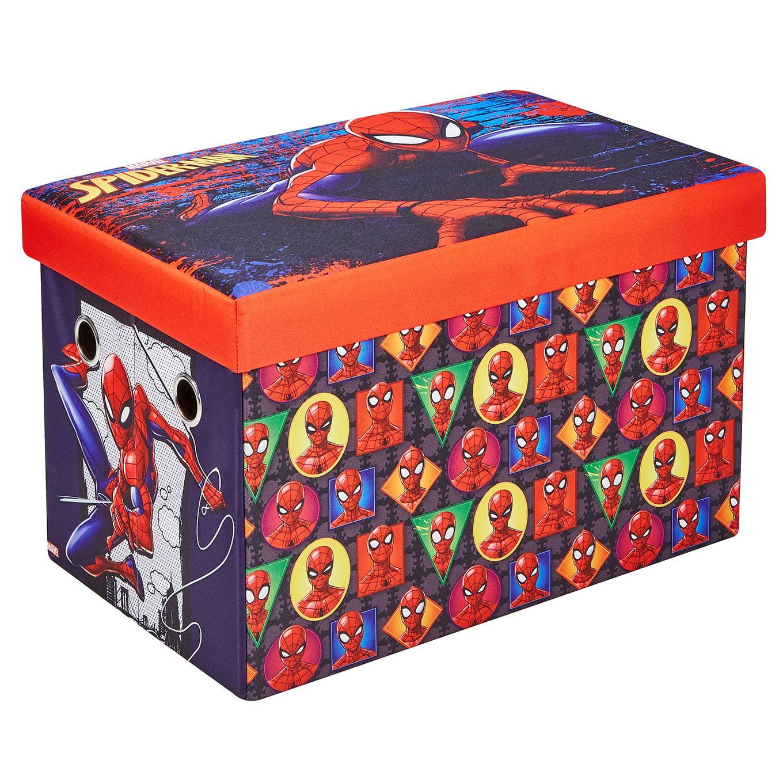 "Fresh Home Elements 24"" Portable Toy Chest & Storage Bench, Marvel"