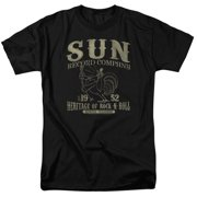 Sun Records Rockabilly Bird Mens Short Sleeve Shirt