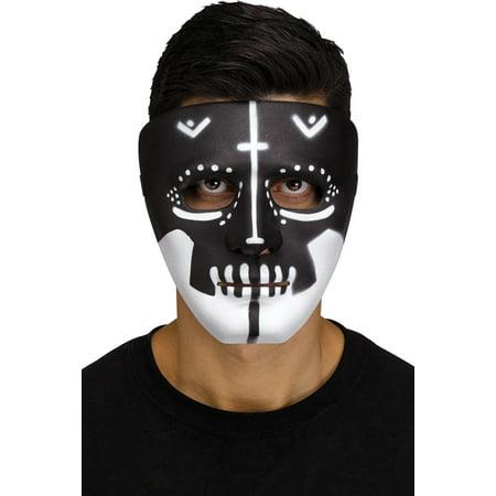 Black Skull Voodoo Mens Adult Witch Doctor Costume Mask (Voodoo Mask)