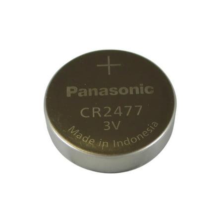 CR2477 Panasonic 3 Volt Lithium Coin Cell Battery - image 1 de 1