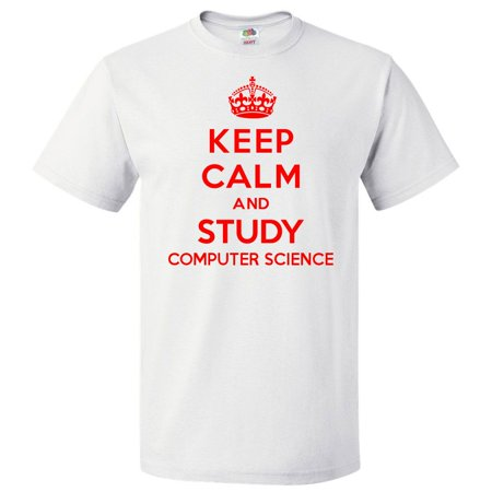 Shirtscope Keep Calm And Study Computer Science T Shirt Funny Tee