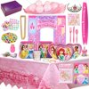Disney Princess Birthday Party Supplies & Decorations - 8 Guests (177 Pieces)
