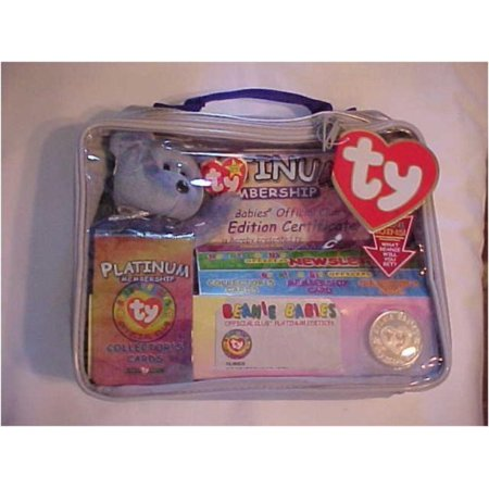 Ty Beanie Babies Official Club Kit II: Platinum Edition, Clubby II Beanie Babies Bear By Beanie Babies Teddy Bears