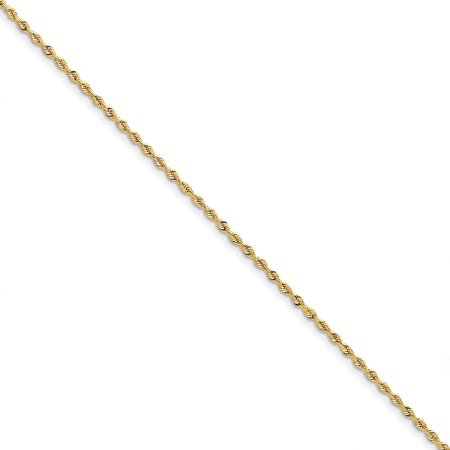 Roy Rose Jewelry 10K Yellow Gold 2.25mm Diamond-cut Quadruple Rope Chain ~ length: 8 inches
