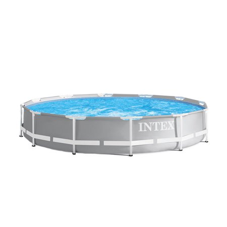 Intex 12 foot x 30 inches durable prism steel frame above - A rectangular swimming pool is 30 ft wide ...