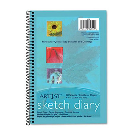 Pacon 4790 Art 1st Sketch Diary  9 x 6  White  70 Sheets/Pad   - image 1 of 1