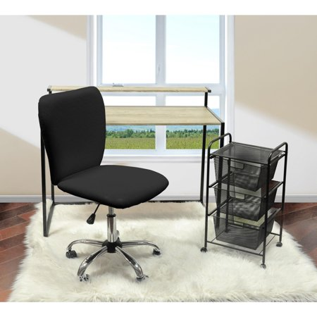 Urban Shop Quilted Faux Leather Task Chair Multiple Colors