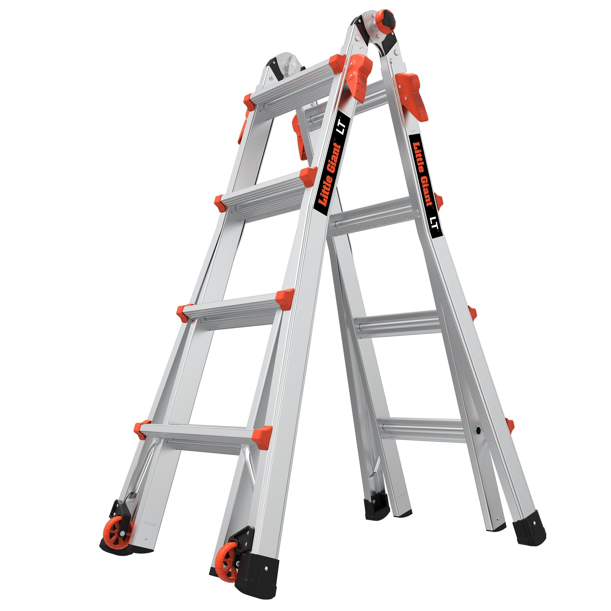 Outdoor Working BEETRO 10.5 ft Aluminum Telescoping Ladder Multipurpose Ladder for Roofing Business Household Use and More Extension Folding Ladder Red 330lb Capacity