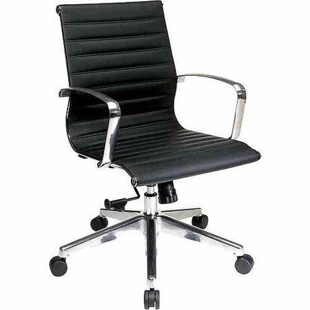office star mid back eco leather office chair walmart com