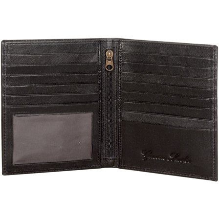 Sakkas Men's Authentic Leather Bi-Fold Wallet with 13 Credit Card Slots with Gift Bag - (Mens Gift Store)