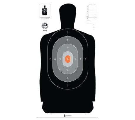 Law Enforcement Targets Dark-to-Light Silhouette Target 24x45 Inch 100 by LAW ENFORCEMENT TARGETS