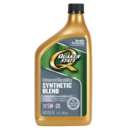 Quaker state 550024129 motor oil 1 qt 5w 20 synthetic for What is synthetic motor oil made out of